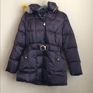 Shelli Segal Purple Down Jacket